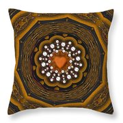 Retro Peace With Love And A Heart Of Gold Throw Pillow
