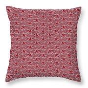Retro Red Pattern Throw Pillow