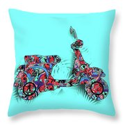 Retro Scooter 3 Throw Pillow
