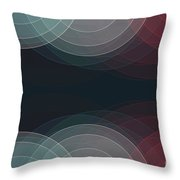 Retro Semi Circle Background Horizontal Throw Pillow