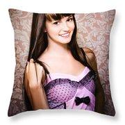 Retro Showgirl Throw Pillow