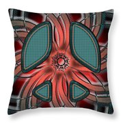 Retro Style Peace Sign Throw Pillow