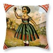 Retro Tobacco Label 1868 C Throw Pillow
