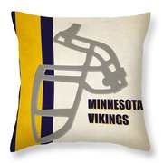 Retro Vikings Art Throw Pillow
