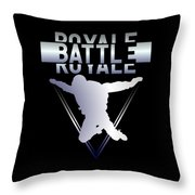 Retro Vintage 90s Chrome Skydiver Battle Royale Gamer T Shirt Throw Pillow