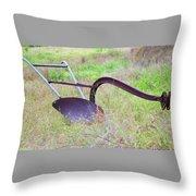 Retrofit Walk-behind Plow Throw Pillow