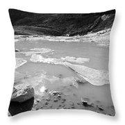 Rettenbachferner Melting Water Throw Pillow