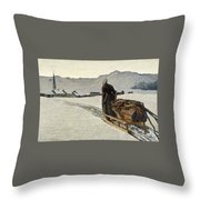 Return From The Wood Throw Pillow