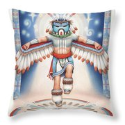 Return Of The Blue Star Kachina Throw Pillow