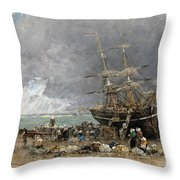 Return Of The Terre-neuvier Throw Pillow