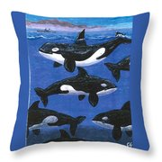 Return Of The Whale Throw Pillow