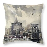 Return Of The World Fliers Throw Pillow