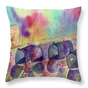 Return To Sender -  Rusty Mailboxes Throw Pillow