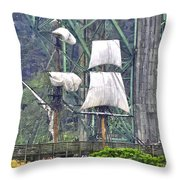 Return To The Yaquina Bay Throw Pillow