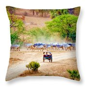 Returning From Pasture 13 Throw Pillow