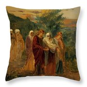 Returning From The Burial Of Christ Throw Pillow