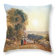 Returning Home From Market Throw Pillow