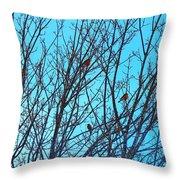 Returning Robins Throw Pillow