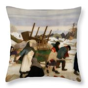 Returning To The Reconquered Land Throw Pillow
