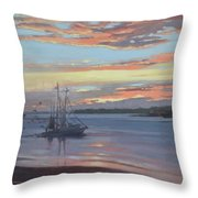 Returning With The Catch Throw Pillow