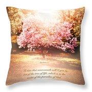 Revelation Tree Of Life Throw Pillow