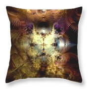 Reverberations From The Obliteration Throw Pillow