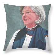 Reverend Mary Gregorius Throw Pillow