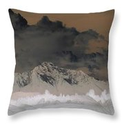 Reverse Landscape Throw Pillow
