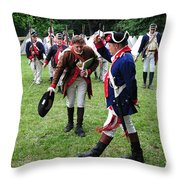 Reviewing The Troops Throw Pillow