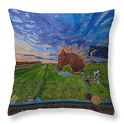 Revisiting, The Childhood Ride Throw Pillow