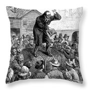 Revival Meeting Throw Pillow