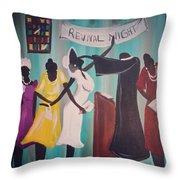 Revival Night Throw Pillow