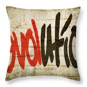 Revolution Love Throw Pillow