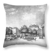 Revolution Of Geneva 1846 Place Bel-air Throw Pillow