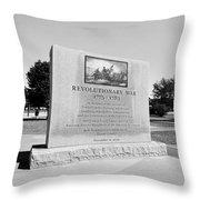 Revolutionary War Memorial 1775 To 1783 Throw Pillow