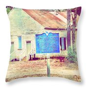 Revolutionary War Skirmish At Horn Creek Baptist Church Throw Pillow