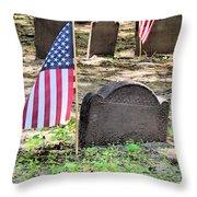 Revolutionary War Veteran Throw Pillow