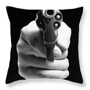 Revolver Aimed At You Throw Pillow