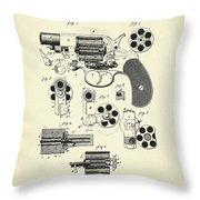 Revolving Fire Arm-1881 Throw Pillow