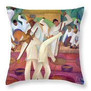 Revueltas: El Trapiche Throw Pillow