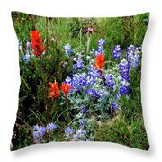 Re,white, And Blue Throw Pillow