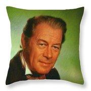 Rex Harrison, Actor Throw Pillow