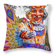 Rex Rides In New Orleans Throw Pillow