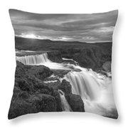 Reykjafoss Waterfall Iceland 3996 Throw Pillow