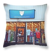Reykjavik Shopping With A Sense Of Humor Iceland 2 3122018_j2301.jpg Throw Pillow