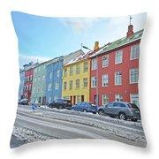 Reykjavik Street Iceland 2 3122018j2325.jpg Throw Pillow