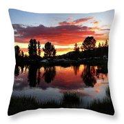 Reymann Lake Sunset - Yosemite Throw Pillow
