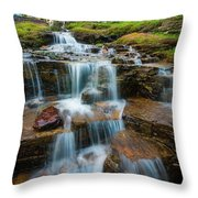 Reynolds Mountain Waterfall Throw Pillow