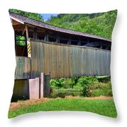 Claycomb Covered Bridge Throw Pillow