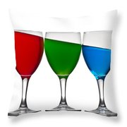 RGB Throw Pillow by Gert Lavsen